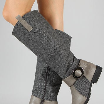 NB200-49 Buckle Riding Knee High Boot