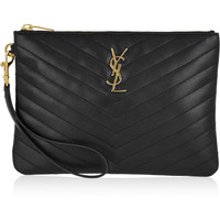 Saint Laurent - Monogramme quilted leather clutch