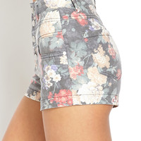 Flower Power High-Waisted Shorts