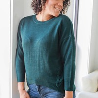 Craving Fall Sweater - Hunter Green