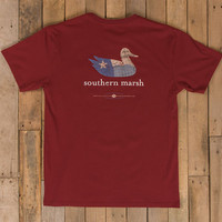 Southern Marsh Texas Authentic Heritage Tee- Maroon