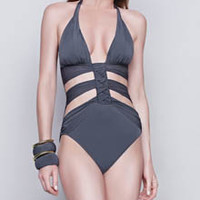 Gottex 15DW015 Dream Weaver Cut Out One Piece Swimsuit