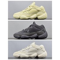 2020 Blush KANYE WEST ad Yezzy boost 500 Kanye Sneakers Desert Rat 500 Mens Running Shoes Athletic Sneaker Outdoor Size 5-11