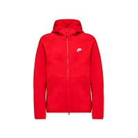 Nike Men's NSW Sportswear Tech Fleece Full Zip Hoodie University Red