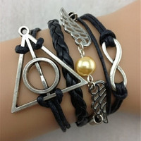1 pc Love Vintage Harry Potter theme bracelet = 1946252996