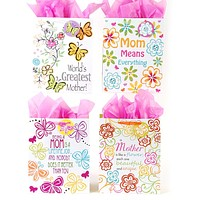 """""""love mom"""" gift bags - large Case of 120"""