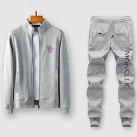 Boys & Men Moncler Fashion Casual Edgy Cardigan Jacket Coat Pants Trousers Set Two-Piece
