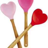Heart Silicone Baking Spoon by Rice - Assorted Colors Available!