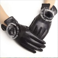 Ms. Winter thick leather gloves / winter warm leather gloves / sheep leather gloves = 1958013764