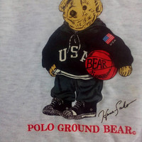 Polo Bear by polo Ground sweatshirt USA vintage
