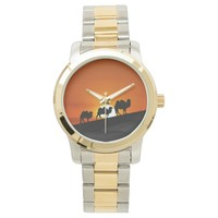 Camels at sunset wrist watches