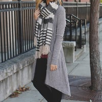 Get Cozy Cardigan - Heather Grey