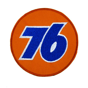 76 Gas Station Patch Iron On Applique Alternative Clothing Grunge Style