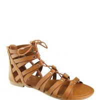 Tie Up Pattern Flat Gladiators  Sandal / Shoe