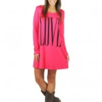 "Pink And Black ""Love"" Tunic"