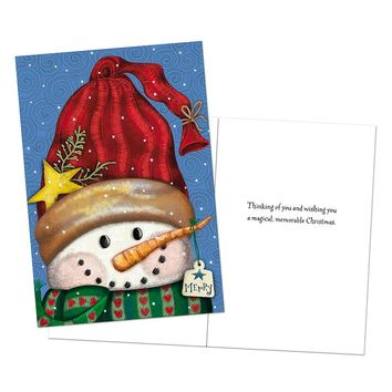Image Art 16-count ''Merry Snowman'' Holiday Card Box Set