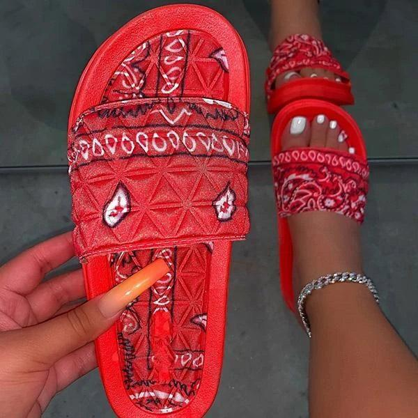 Image of Women's Shoes Flat Slippers Outdoor Beach Sandals Open Toe Fashion Casual