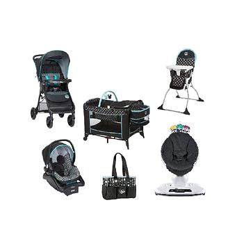 Disney Mickey Complete Baby Gear Bundle,Travel System,Play Yard,Swing & Diaper Bag