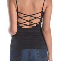 Criss-Cross Back Detailed Cami- FINAL SALE