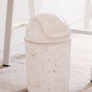 Marble Mini Lidded Trash Can | Urban Outfitters