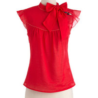 Pinpoint of View Top in Red