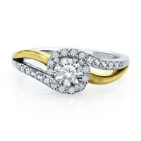 Helzberg Diamond Symphonies® 1/5 ct. tw. Diamond Semi-Mount Engagement Ring in 14K Gold - Create Your Own Ring - Design Your Own - Helzberg Diamonds