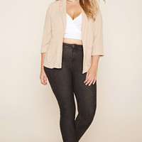 Plus Size Collared Blazer