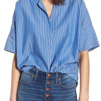 Madewell Courier Stripe Button Back Shirt | Nordstrom