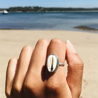 Tocona Bohemian Antique Silver Shell Ring Midi Finger Knuckle Rings for Women Summer Beach Jewelry Anillos Accessories 4282