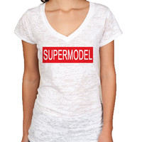 Supermodel V neck Burnout