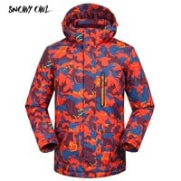 Camouflage Ski Jackets Men Winter Outdoor Ski Jacket Windproof Snow Wear Clothes Warm Snowboard Jacket h200