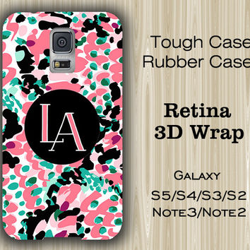 Vibrant Arts Dark Color Monogram Samsung Galaxy S5/S4/S3/Note 3/Note 2 Case