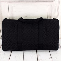 Quilted Duffle Bag   Black
