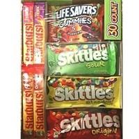 Master Foods Variety Box Skittles, Starburst and Lifesavers Gummies 30 Count Variety