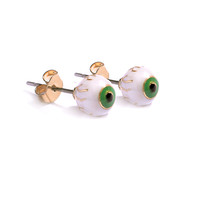 Me and Zena Eyeball Ear Studs in Gold and Enamel