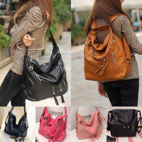 Fashion Women Handbag Shoulder Bag Tote Purse Wallet PU Leather Messenger Hobo