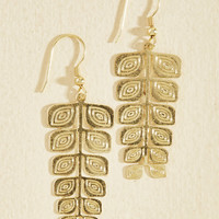 Fronds Come First Earrings | Mod Retro Vintage Earrings | ModCloth.com