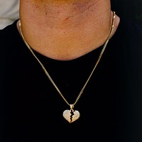 HEARTBREAK Steel Micro Hip Hop Necklace | 937F