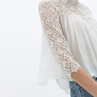 COMBINATION LACE TOP