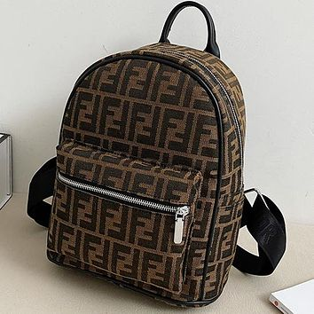 Louis Vuitton LV DIOR FENDI Canvas Embroidered Letter Backpack Bag