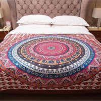 CREYU3C Tapestry Colored Printed Decorative Mandala Tapestry Indian 130cmx150cm/153cmx203cm Boho Wall Carpet