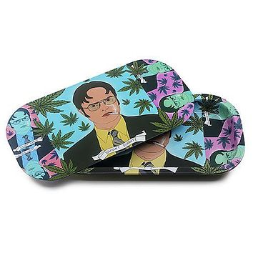 Metal Rolling Tray w/ Magnetic Lid - High Dwight