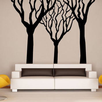 Vinyl Wall Decal Sticker Winter Trees #OS_MB1125