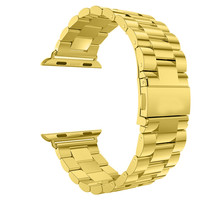 Stainless Steel 14k Yellow Gold Finish 42mm Apple watch Band