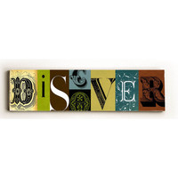 Discover by Artist Stella Bradley Wood Sign