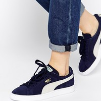 Puma Classic Suede Navy Peacoat Trainers