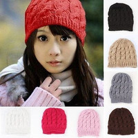 New Lady Women's Chic Winter Knitted Crochet Baggy Beanie Hat Ski Warm Skull Cap