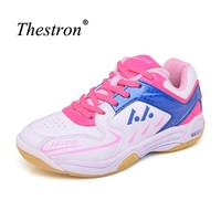 Thestron Sport Shoes Kids Badminton Light Weight Indoor Sneaker Boys Different Colors Badminton Shoe Cool Girls Sport Shoes