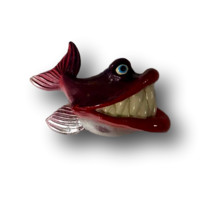 Sherri Big Mouth - Fish with Attitude Purple Red Lips - Fish With Attitude by Mike Quinn