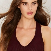 Rib It and Quit It Ribbed Bralette - Red
